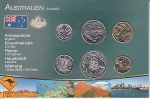 Das Geld der Welt  -  Australien  -  6 Münzen