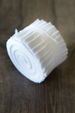 2.5 inch White Bella Solid Jelly Roll 100% cotton fabric quilting strips