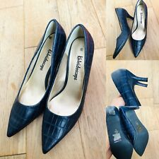 Women's KALEIDOSCOPE Dark Blue Court Pointy Shoes Size 5 Business Immaculate