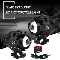 Motorrad LED-Scheinwerfer Fahrscheinwerfer Nebelscheinwerfer Schalter Zubehör