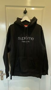 Supreme Classic Logo Hoodie XL (Black)