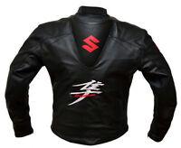 Suzuki Motorbike Leather Jacket Racing Motorcycle Cowhide Leather Jacket