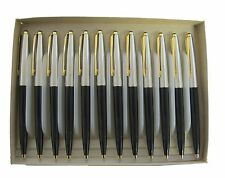 12 PARKER 45 BLACK & GOLD TRIM 0.5 CLICK PENCIL JEWELED  W ERASER NEW
