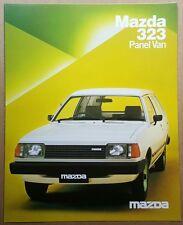 1983 Mazda 323 Panel Van original Australian sales brochure