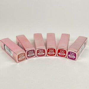 NEW Maybelline Color Sensational Shine Lipsticks - Lots of 2 - Choose Your Shade