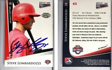 Steve Lombardozzi Signed 2009 TRISTAR PROjections #43 Card GCL National Auto