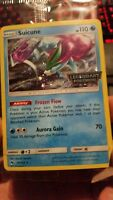 Suicune 59/214 Legendary Pokemon Stamped Holo Promo limited edition Pokemon Card
