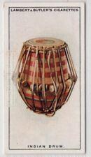India Mridangam Percussion Drum Music Instrument 1920s Ad Trade Card