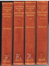 Intimate Papers of Colonel House by Charles Seymour 1926 1st Ed 4 Vol Rare Book$