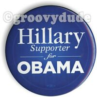 2008 Hillary R. Clinton Supporter For President Barack Obama Pin Pinback Button