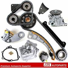 Chevy Suzuki 1.8L 2.0L 2.3L Timing Chain Kit+Water Oil Pump G18K J18A J20A J23A