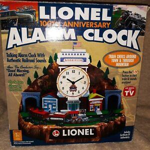 Vintage 100th Anniversary Lionel Alarm Train Clock Year 2000