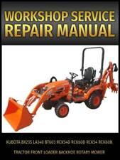 New Listingkubota Bx23s Tractor Service Manual Cd La340 Bt603 Front Loader And Backhoe