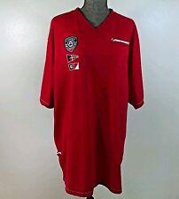 COOGI Short- Sleeve Men's Soccer Shirt, B&T, Sz XXXL, Red, Patches, Casual