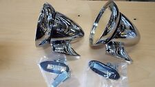 "4 1/2"" Bullet Race & Sports Car GT Racing Chrome Side Exterior 2 Mirror Rat Rod"