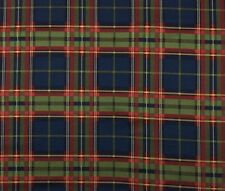 "WAVERLY MERRION SQUARE MIDNIGHT Blue Green Red Tartan Plaid Fabric BY YARD 54""W"