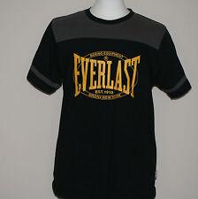 Everlast Camiseta Cuello Redondo Manga Corta Negro Tamaño Mediano