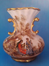 antique porcelain guilded gold victorian vase handles 5 3/4 inches botet manises