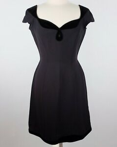 Vintage 40 US 8 Thierry Mugler black dress