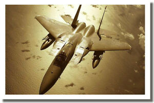 F-15 Eagle Tactical Fighter - Military Jet Air Force POSTER