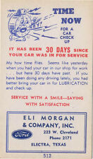 Ford  USA issued period service request Postcard sized card blank rear