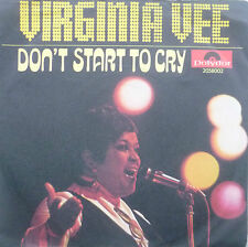 """7"""" 1969 POLYDOR! Virginia Vee Don 't start to cry MINT -"""
