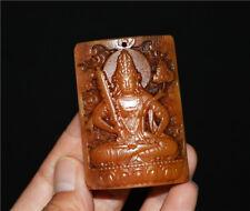 tibetan kapala quan guan kwan yin pendant buddha statue antique amulet tibet