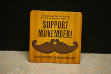 NEW CANADIAN RICKARD'S 'JACK ASTOR'S' 'SUPPORT MOVEMBER' BEER COASTER