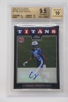 2008 Topps Chrome Rookie Autographs #TC186 Chris Johnson Beckett 9.5 GEM MINT