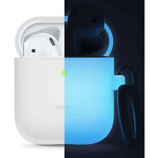 AirPods Case - elago® Silicone Case with Keychain [Nightglow Blue]