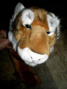 """FAO Schwarz Plush Tiger Stuffed Animal 20"""" Large. Tiger King."""