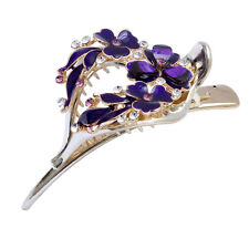 Women Retro Hairpin Hair Clips Vintage Crystal Rhinestone Barrette Headband Claw