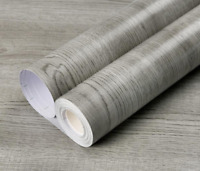 Green-grey Wood  Peel and Stick Wallpaper Self-adhesive Removable Contact Paper