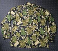 Men's Hawaiian Shirt Aloha Batik Retro 90's Silk Rockabilly Paisley Abstract XL