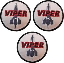 """Battlestar Galactica Viper Pilots Set Of Three 3"""" Diameter Embroidered Patches"""