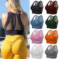 Women's Seamless Sports Bra Yoga Crop Tops High Impact Workout Running  Athletic