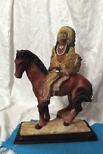 Native American figure w/chief headress,tomahawk,shield, on a horse,very good