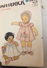 Butterick 3948 - Vintage Infant Dress Ensemble W/Transfer:  X-Large
