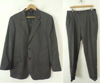 JOS A BANK Signature Collection Mens 44R & 36 Waist Gray Wool Two Piece Suit