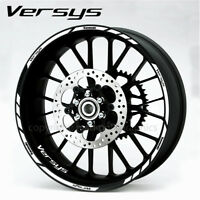Versys 650 1000 quality wheel decals stickers rim stripes Kawa white