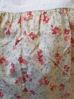 "EDDIE BAUER HOME Floral Cream Pink Coral King Bedskirt Split Corners 14"" Deep"