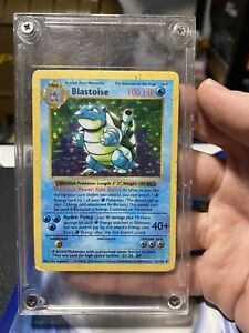💧 Shadowless Blastoise - Base Set 2/102 Pokemon Card 1999 W/ Case💧