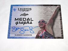2015 Leaf Legends of Sport SUMMER SANDERS Emerald Auto SP/5 US Olympic Swimming