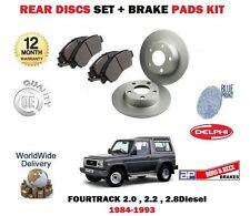 para Daihatsu Fourtrak 2.0 2.2 2.8d 1984- > Discos freno Delantero Set + kit