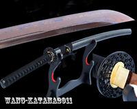 Red Blade Sharp Folded Steel Japanese Samurai Katana Sword Handmade Full Tang