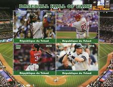 Chad 2018 MNH Baseball Hall of Fame Harper Thome 4v M/S Sports Stamps