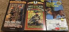 LOT OF 3 HUNTING VIDEO'S VHS WHITETAIL STRATEGIES DEER CALLING