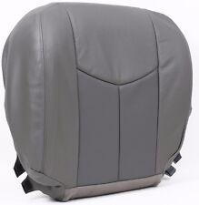 03-06 GMC Sierra Denali Truck *Driver Side Bottom Leather Seat Cover 2-TONE Gray