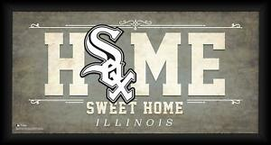 """Chicago White Sox Framed 10"""" x 20"""" Home Sweet Home Collage"""