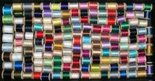 COLORFUL LOT 160 VINTAGE WOODEN SPOOLS OF SEWING THREAD
